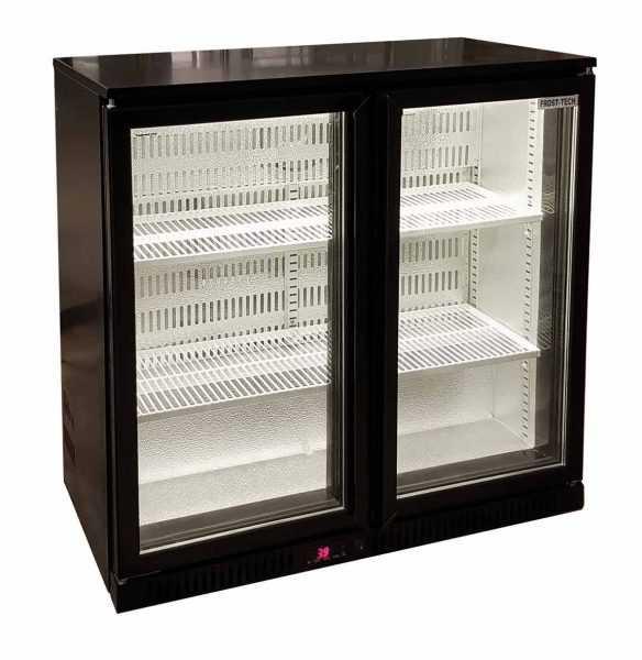 Frost-Tech Back Bar Double Glass Door Chiller 900 mm