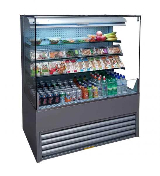 Grab and Go Display Chiller ECO-LD75/120CC Flat Glass 1200 mm