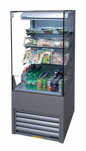 Grab and Go Display Chiller ECO-LD75/60CC Silver Steel Flat Glass 600 mm