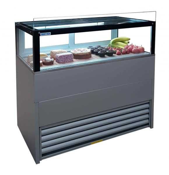 Silver Steel Double Glazed Counter 1200 mm