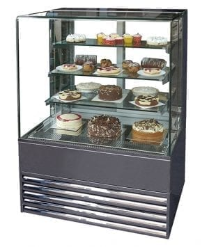 Frost-Tech Stainless Steel Flat Glass Patisserie