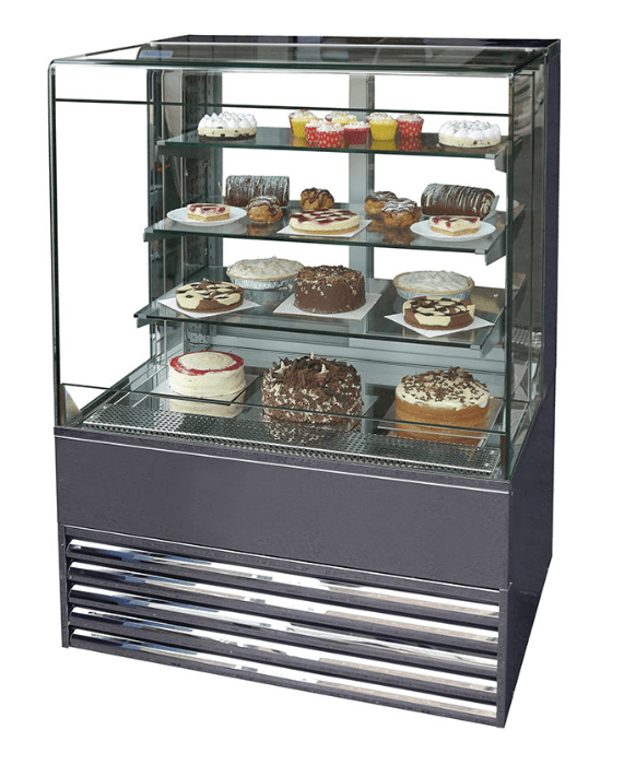 Open Flat Glass Patisserie Cabinet