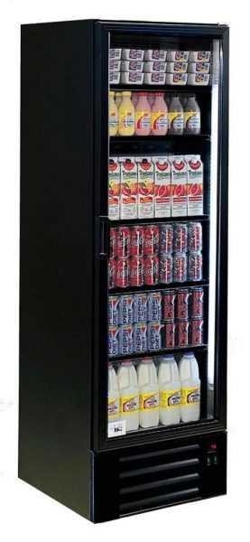 Frost tech high spec black single door display chiller for 1 door display chiller